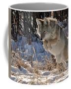 Coyote In Mid Jump Coffee Mug