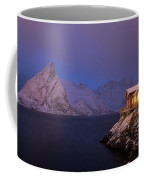 Cozy Cabin By The Fjord Coffee Mug