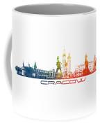 Cracow City Skyline Color Coffee Mug