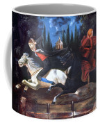 Crane And Horseman Coffee Mug
