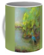 Crane At Golden Ponds Coffee Mug