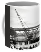 Crane In Winter Coffee Mug