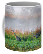 Cranes On Foggy Day Coffee Mug