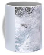 Crashing Against Lava Rocks Coffee Mug