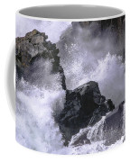 Crashing Wave At Quoddy Coffee Mug