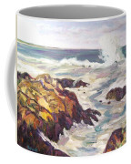 Crashing Wave On Maine Coast Coffee Mug