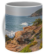 Crashing Waves At Otter Cliff Coffee Mug