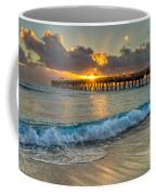 Crashing Waves At Sunrise Coffee Mug