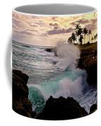 Crashing Waves At Sunset Coffee Mug
