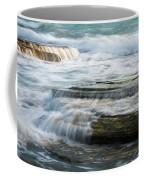 Crashing Waves On Sea Rocks Coffee Mug