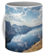 Crater Lake With A View Of The Phantom Ship Coffee Mug