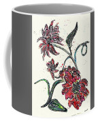 Crayon Flowers Coffee Mug