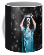 Crazy Doctor Clown Laughing In Rain Coffee Mug