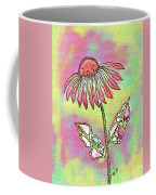 Crazy Flower With Funky Leaves Coffee Mug