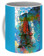 Crazy Red House In The Clouds Whimsy Coffee Mug