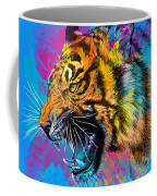 Crazy Tiger Coffee Mug by Olga Shvartsur