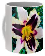 Cream And Purple Lily Macro Coffee Mug