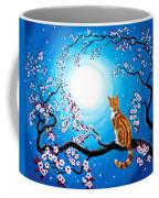 Creamsicle Kitten In Blue Moonlight Coffee Mug