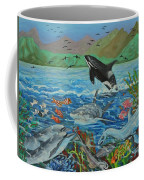 Creation Fifth Day Sea Creatures And Birds Coffee Mug