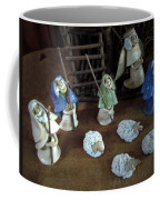Creche Shepards And Sheep Coffee Mug by Nancy Griswold