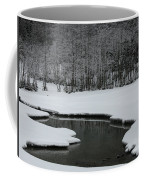 Creek In Snowy Landscape Coffee Mug