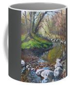 Creek In The Woods Coffee Mug by Ylli Haruni