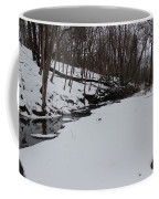Creeks Battles The Snow And Cold To Remain Flowing. Coffee Mug