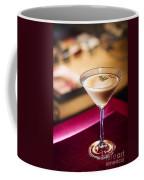 Creme Caramel Martini Cocktail In Bar Coffee Mug