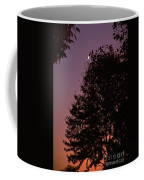 Crescent Moon And Tree Silhouette At Dusk Coffee Mug