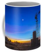 Crescent Moon Beside Mars Coffee Mug