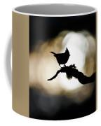 Crested Tit Silhouette Coffee Mug