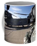 Crew Chief Of A Ch-47 Chinook Stands Coffee Mug