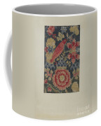 Crewel Embroidered Panel Coffee Mug