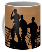 Crewmen Salute The American Flag Coffee Mug by Stocktrek Images
