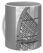 Cricket Stadium Architecture Black And White Coffee Mug