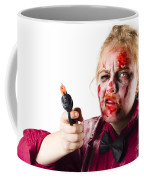 Criminal Zombie Pointing Revolver Coffee Mug