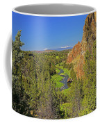 Crooked River And Mt Hood Oregon Coffee Mug