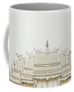 Crop Of A Exquisite And Magnificent Roof Of White Temple Aka Wat Rong Khun In Thailand Coffee Mug