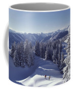 Cross-country Skiing In Aspen, Colorado Coffee Mug