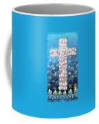 Cross Of Flowers Coffee Mug