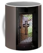 Cross On Church Door Open To Prison Yard Coffee Mug