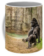Cross River Pregnant Gorilla And Children Coffee Mug
