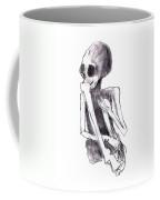 Crouched Skeleton Coffee Mug