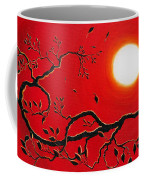 Crow In Crimson Sunset Coffee Mug