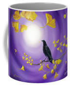 Crow In Ginkgo Leaves Coffee Mug