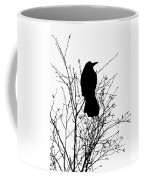 Crow Rook Perched In A Tree With Pare Branches In Winter Coffee Mug