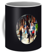 Crowded Sidewalk In New York Coffee Mug