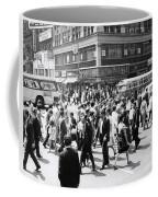 Crowded Street, Nyc, C.1960s Coffee Mug
