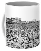 Crowds At Coney Island Beach Coffee Mug