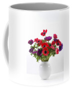 crown Anemone in a white vase Coffee Mug